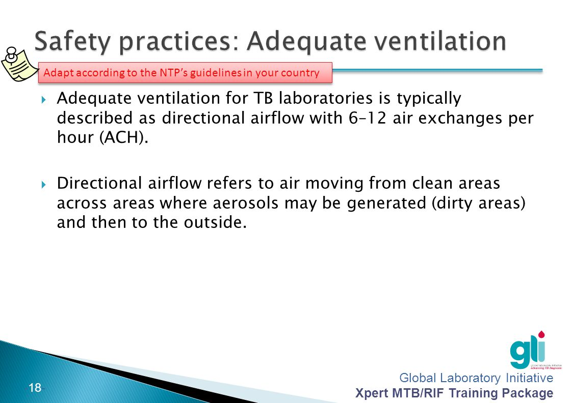 Safety practices: Adequate ventilation
