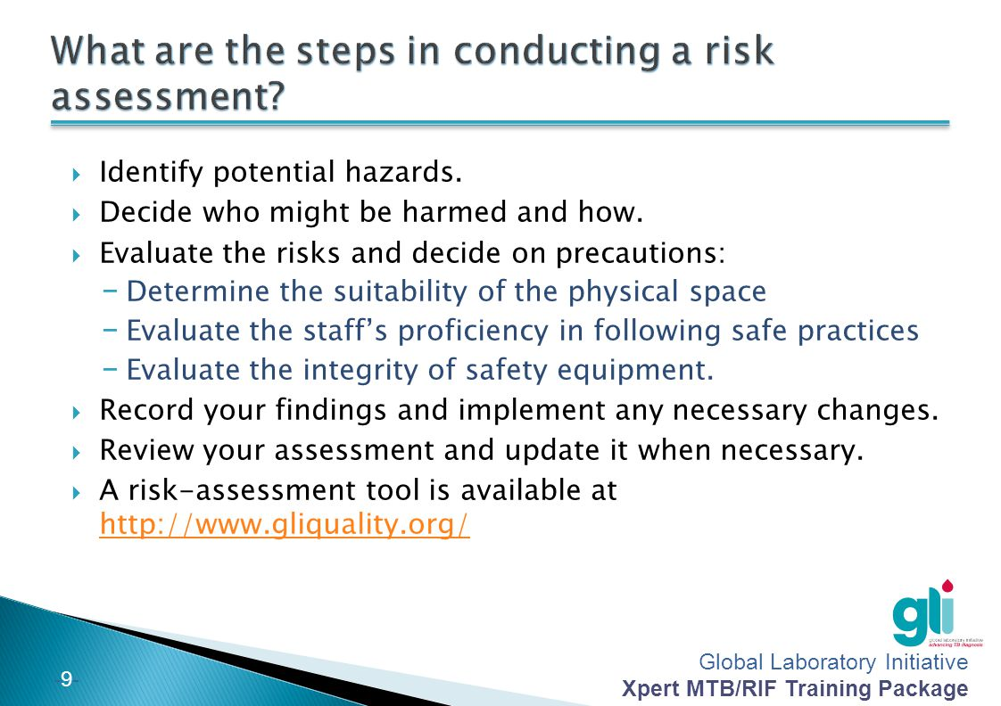 What are the steps in conducting a risk assessment