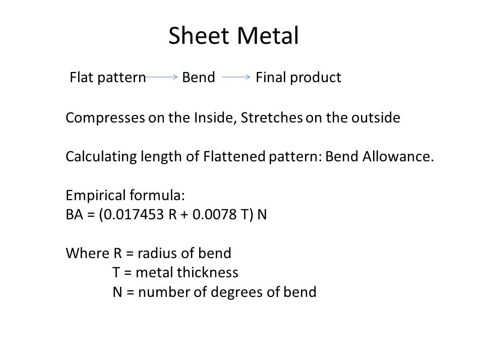 Sheet Metal Flat pattern Bend Final product
