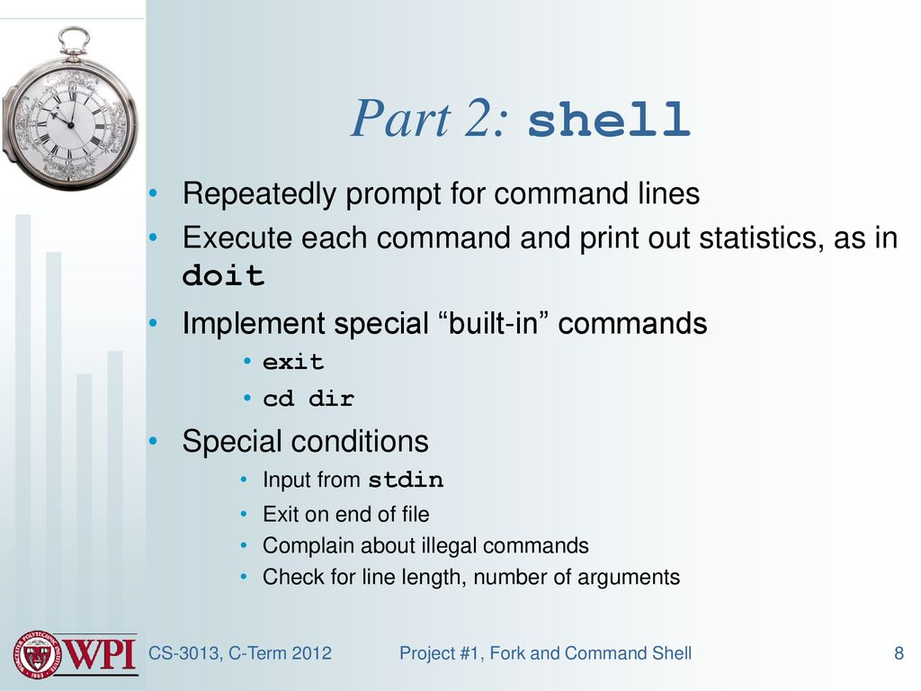 Programming Project #1 Fork and Command Shell - ppt download