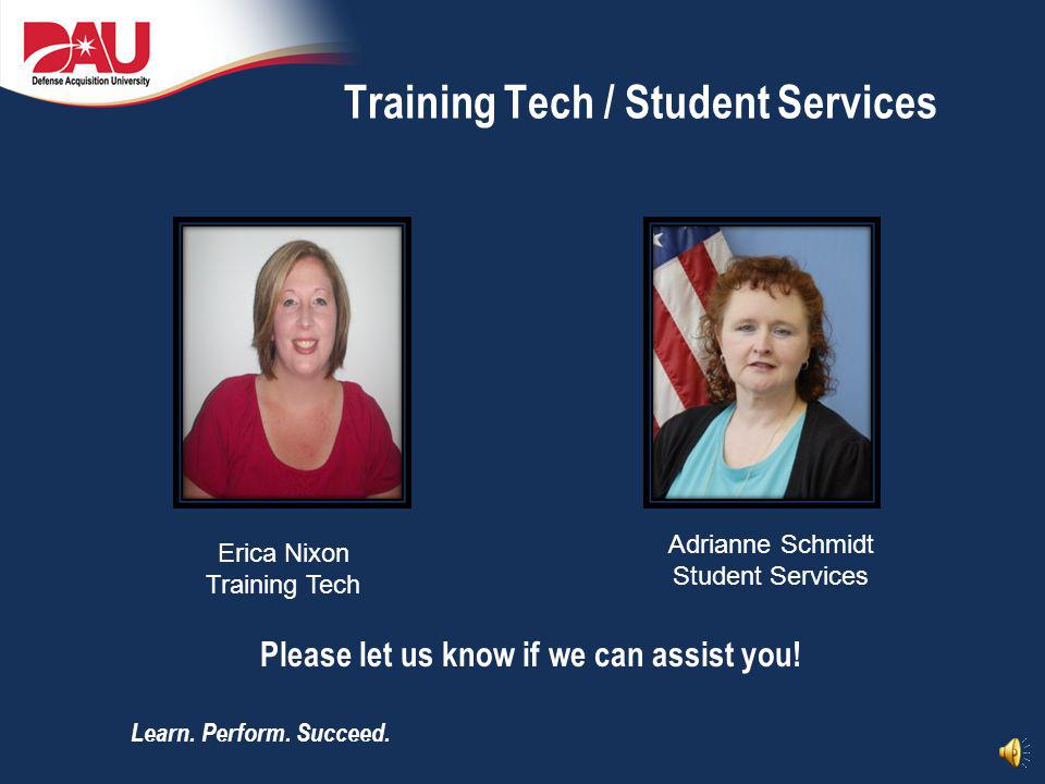 Training Tech / Student Services