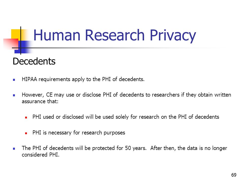 Human Research Privacy