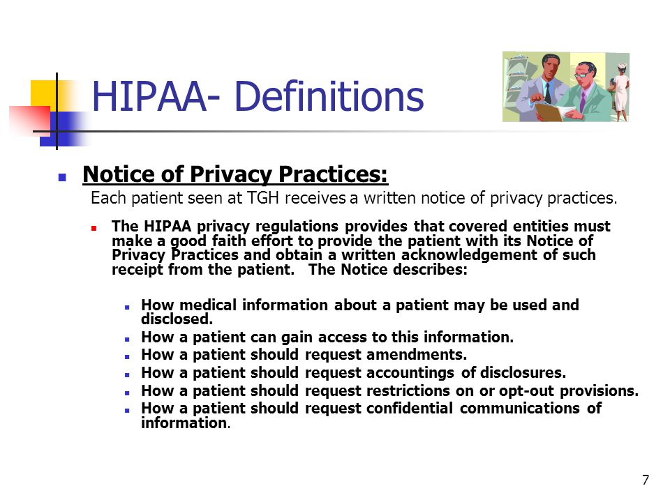 HIPAA- Definitions (Con't)