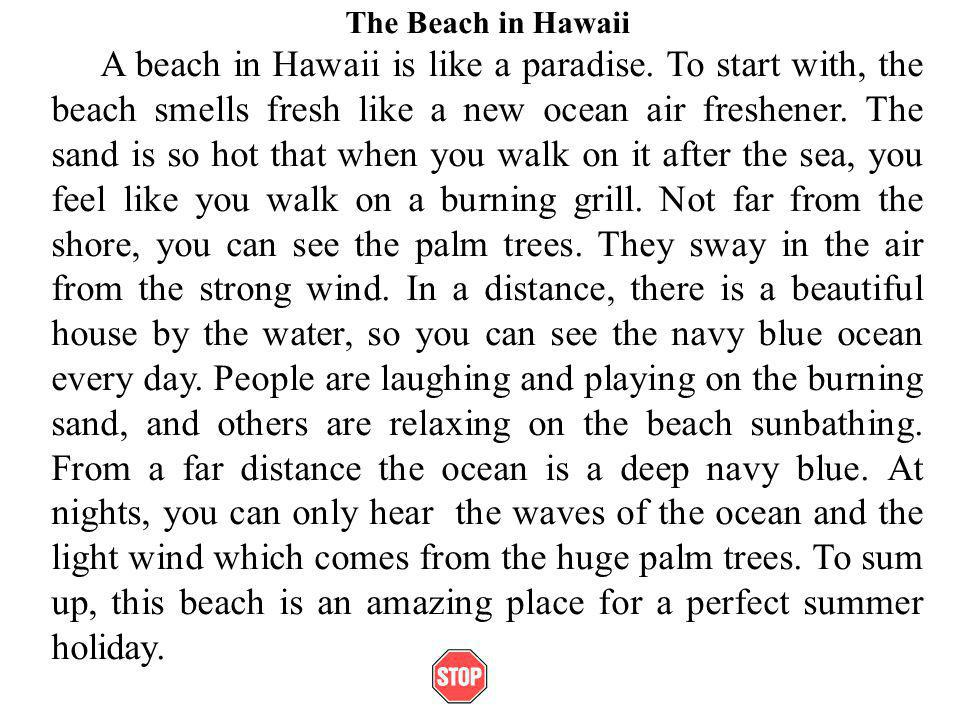 descriptive paragraph about the ocean