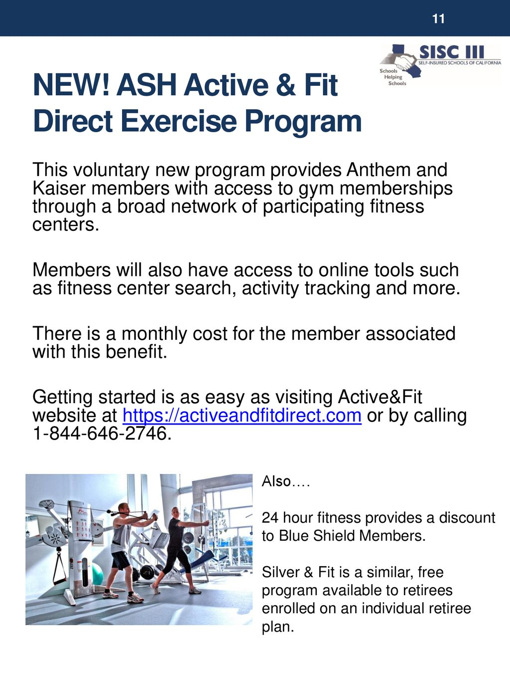 SISC Wellness PROGRAMS AND RESOURCES