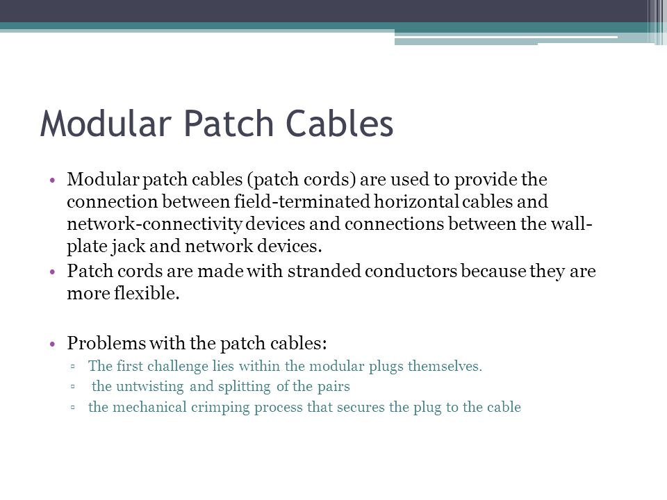 Modular Patch Cables