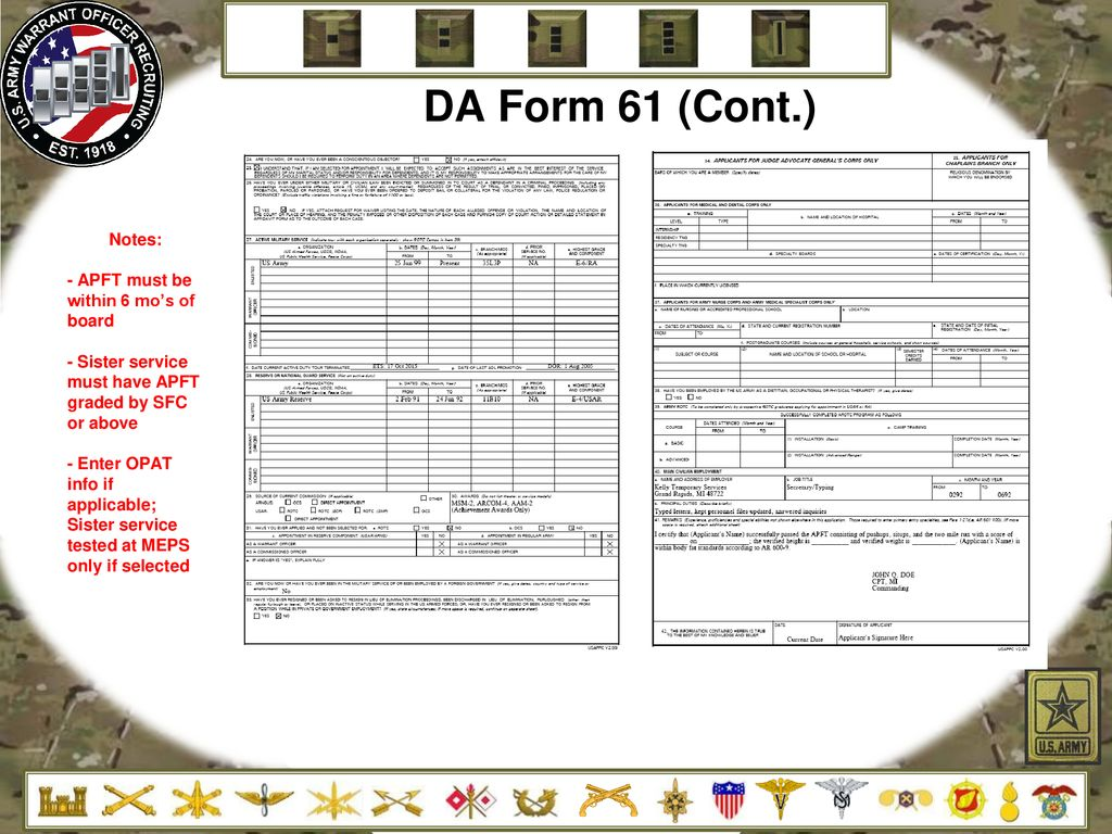Warrant Officer Applicant Brief - ppt download