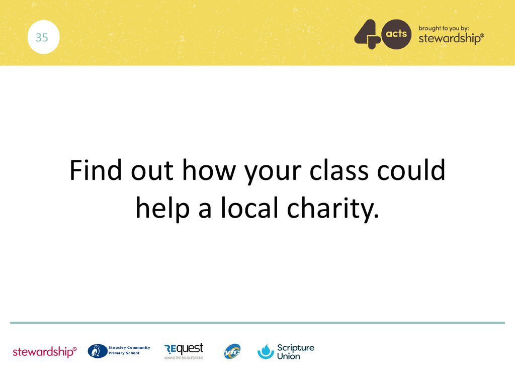 Find out how your class could help a local charity.