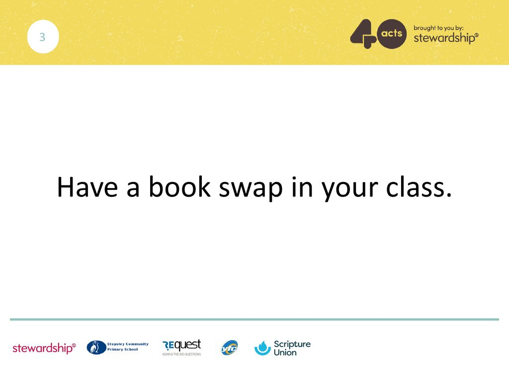 Have a book swap in your class.