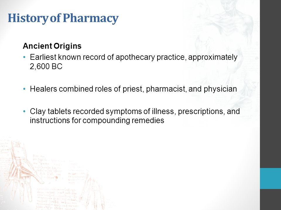 History of Pharmacy Ancient Origins