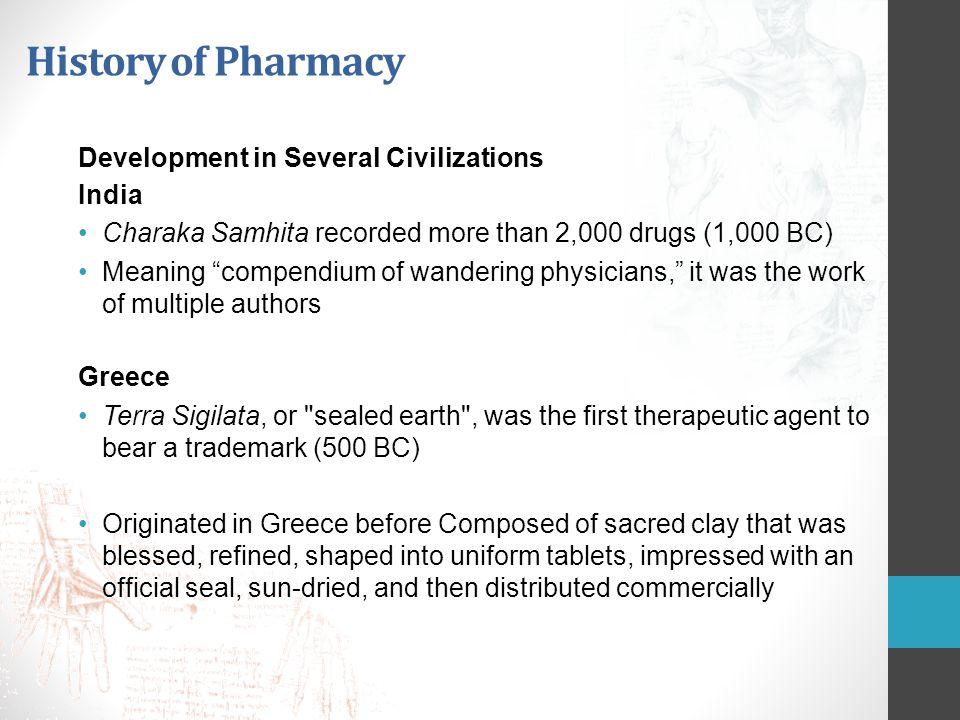History of Pharmacy Development in Several Civilizations India