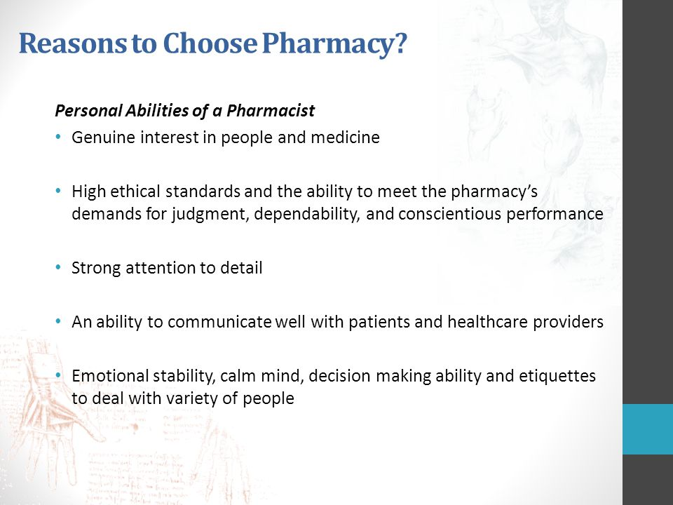 Reasons to Choose Pharmacy