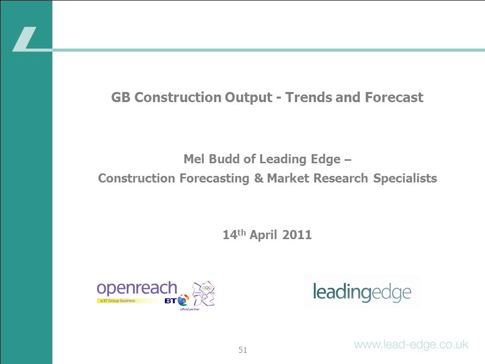 GB Construction Output - Trends and Forecast