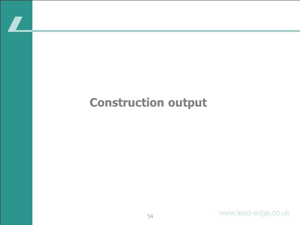 Construction output