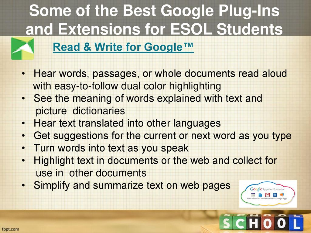 Focusing on Google Plug-ins & Extensions For ESOL Students