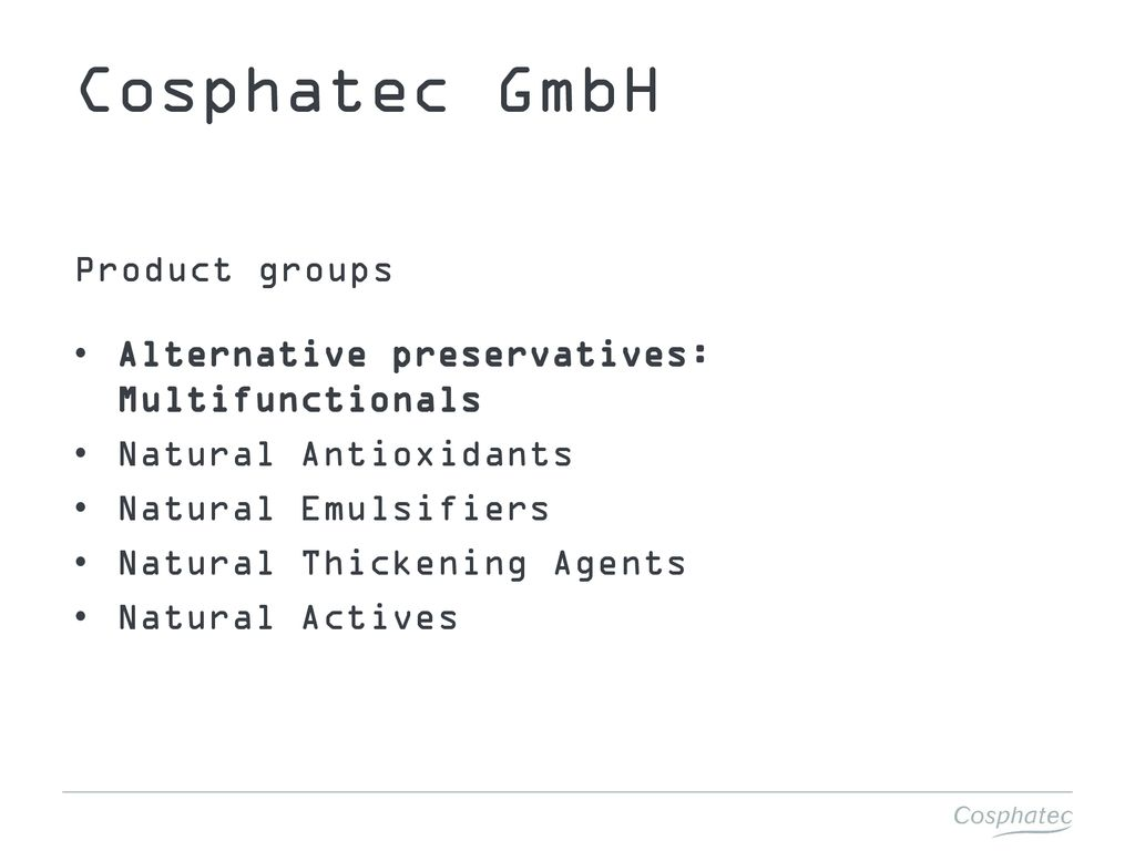 the natural way of alternative preservation InterCHARM ppt