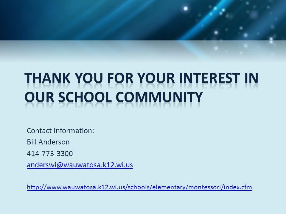 Thank you for your interest in our School community