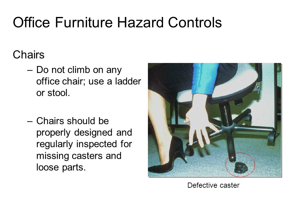 Office Furniture Hazard Controls