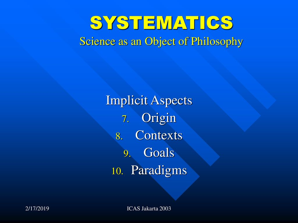 PHILOSOPHY OF SCIENCE by Armahedi Mahzar - ppt download