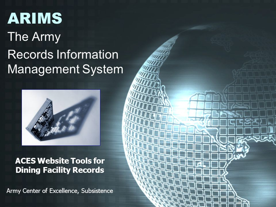 The Army Records Information Management System