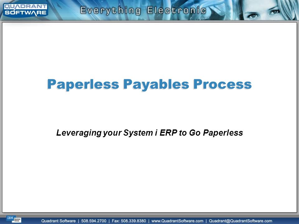 Paperless Payables Process