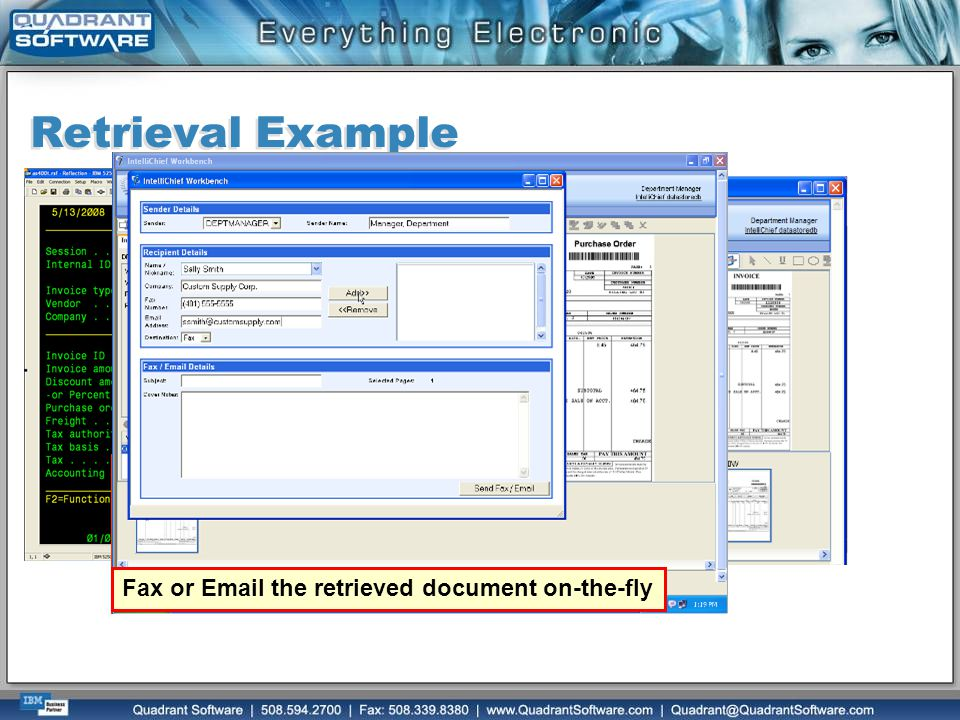 Retrieval Example Complete history showing each step taken during the life of the document.