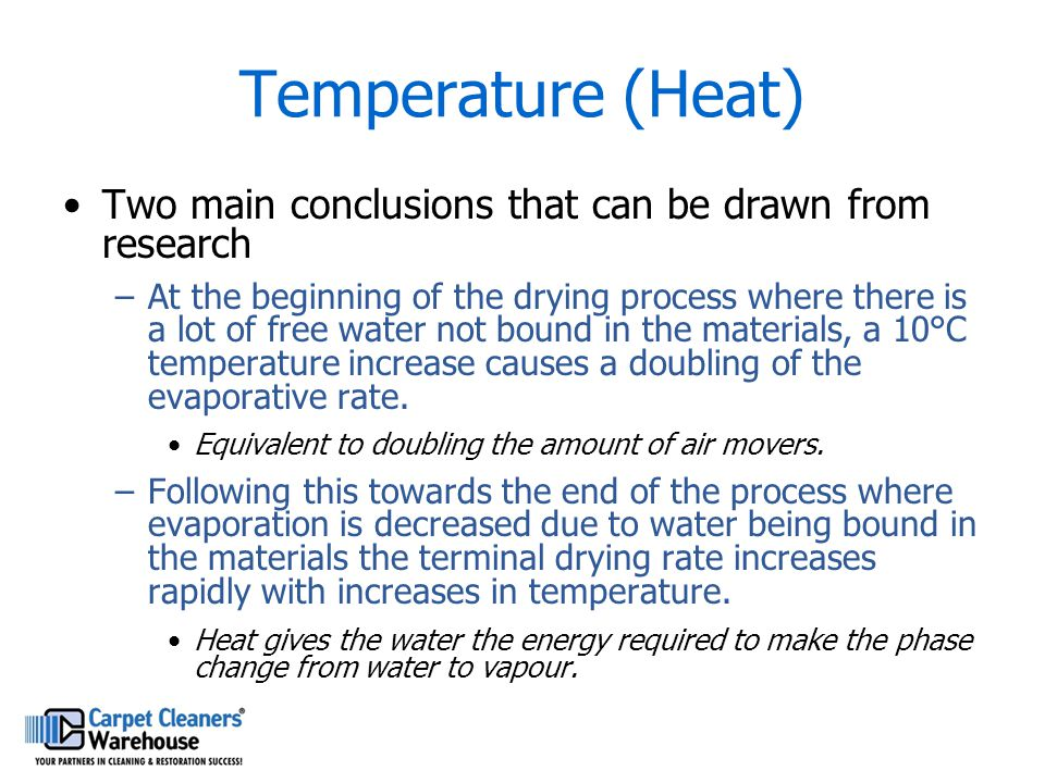 Temperature (Heat) Two main conclusions that can be drawn from research.