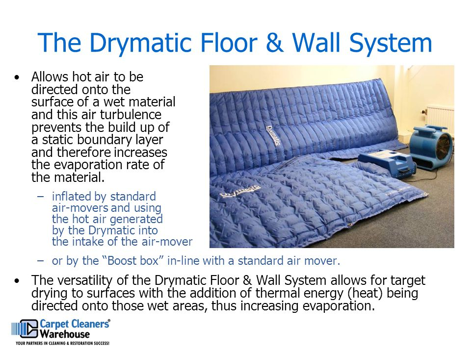 The Drymatic Floor & Wall System