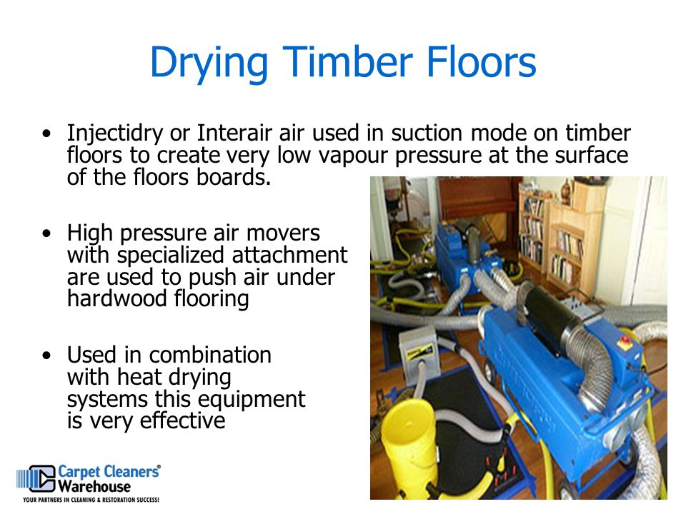 Drying Timber Floors