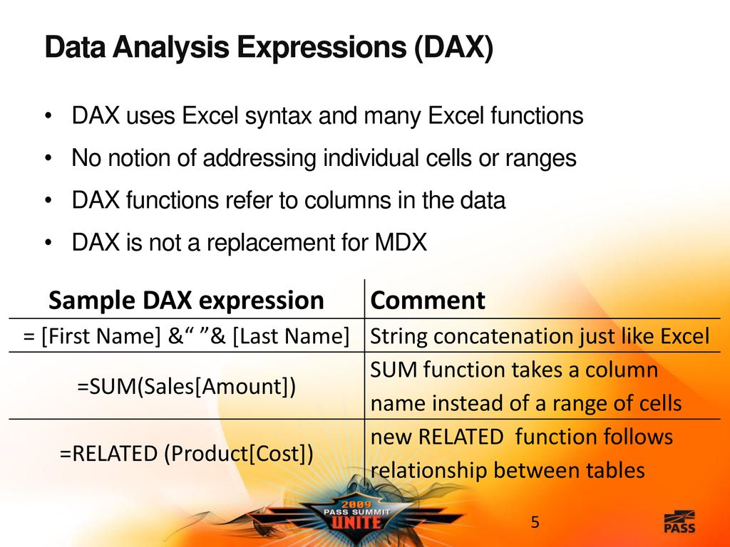 Data Analysis Expressions in PowerPivot for Excel ppt download