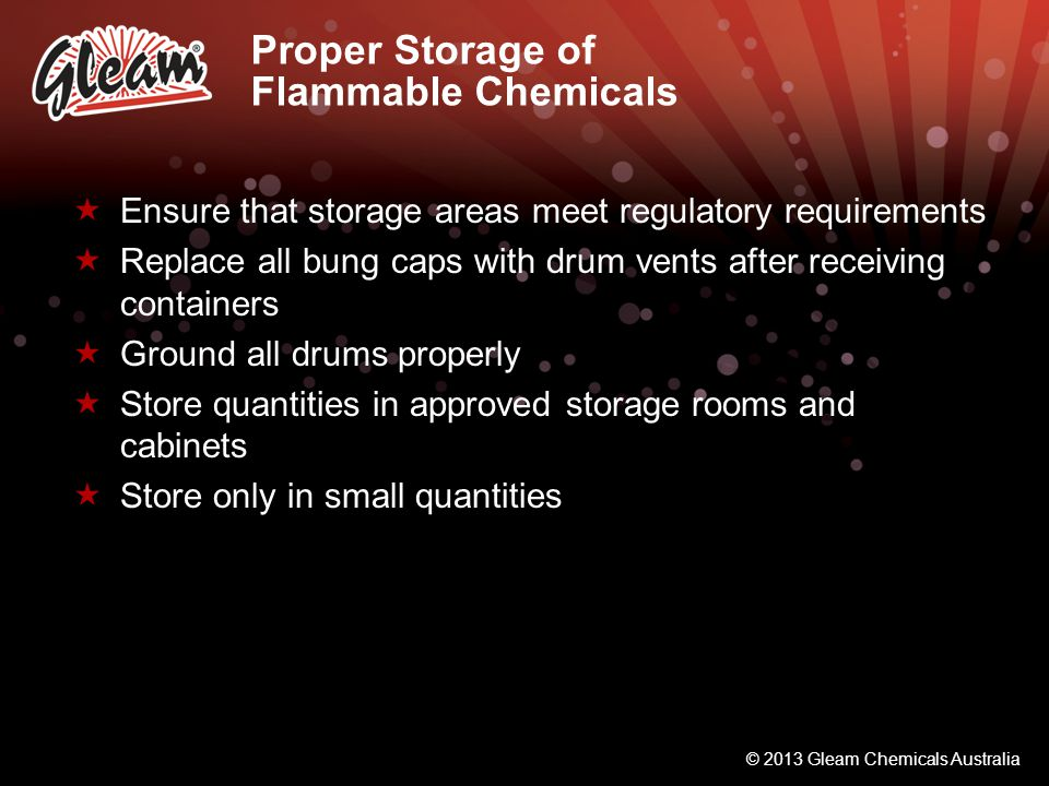 Proper Storage of Flammable Chemicals