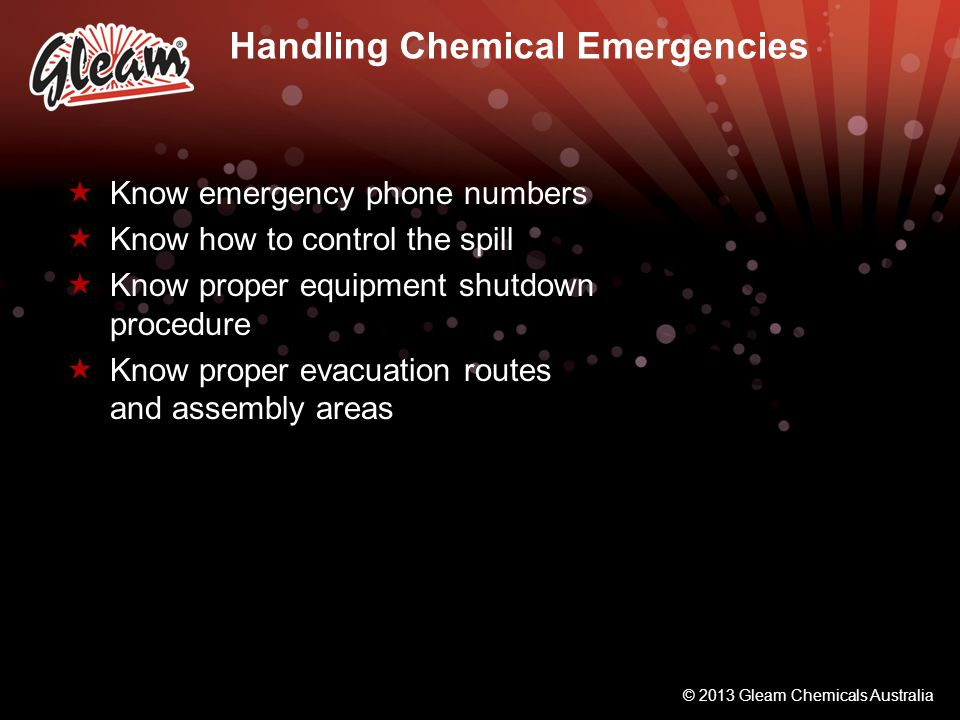 Handling Chemical Emergencies