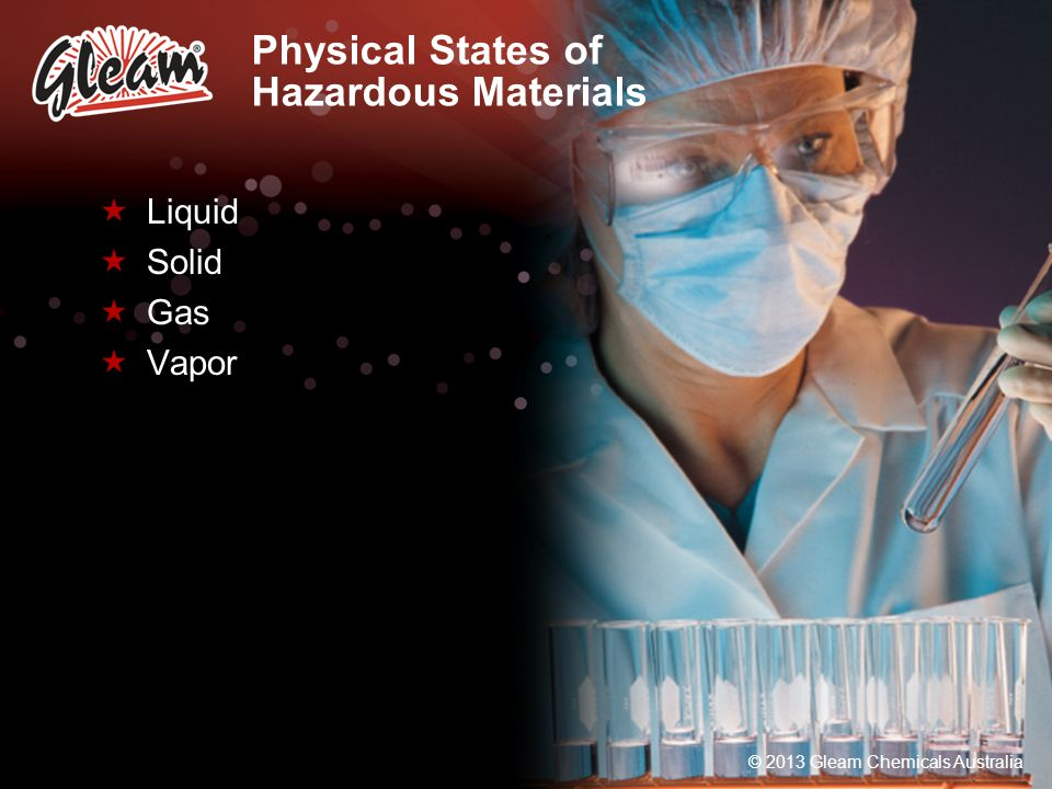 Physical States of Hazardous Materials