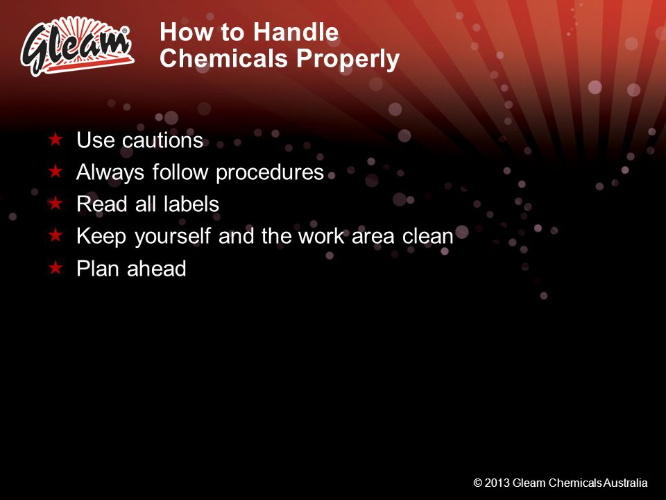 How to Handle Chemicals Properly
