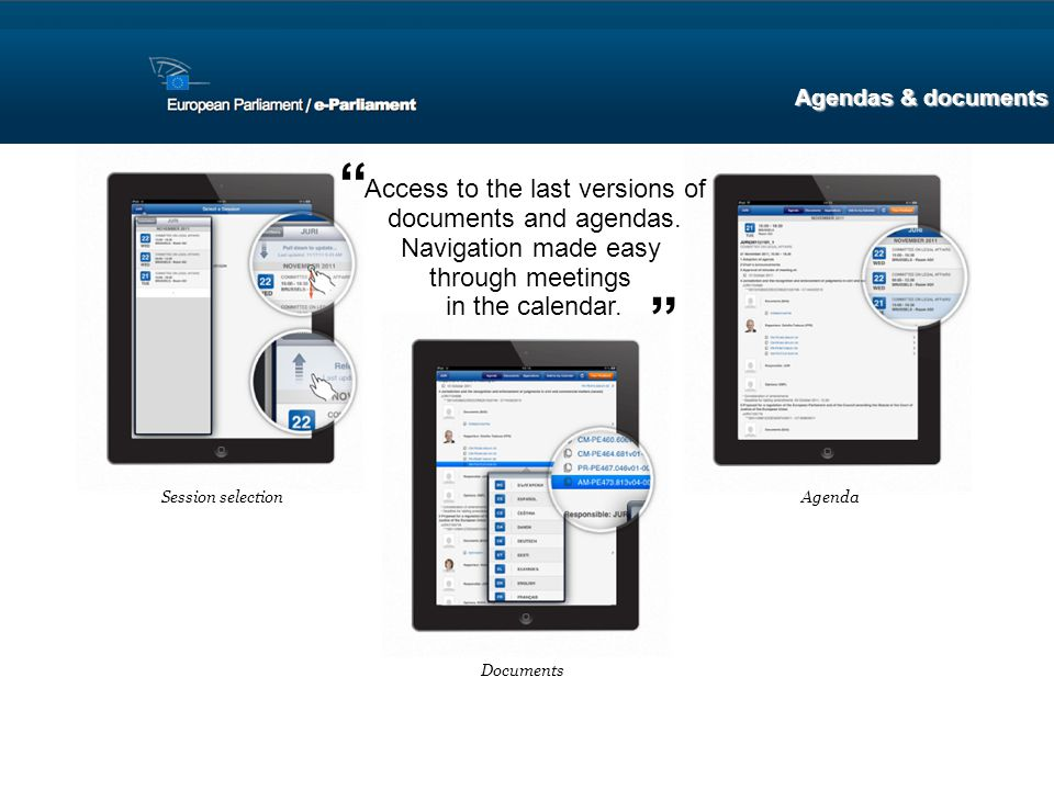 Access to the last versions of