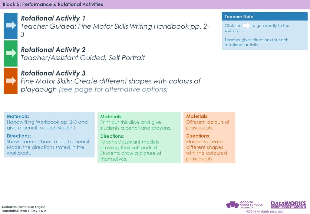 T ACTIVITY 1 – Teacher Guided: Fine Motor Skills Writing