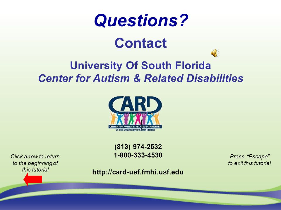 University Of South Florida Center for Autism & Related Disabilities