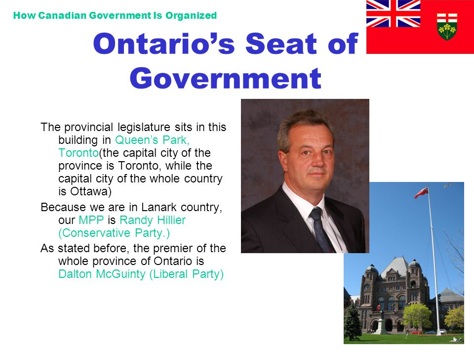 Ontario's Seat of Government