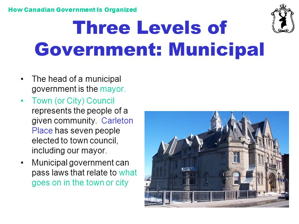 Three Levels of Government: Municipal