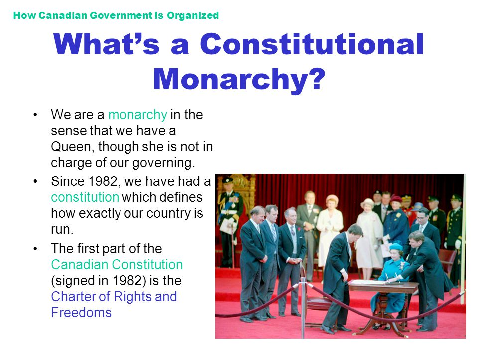 What's a Constitutional Monarchy