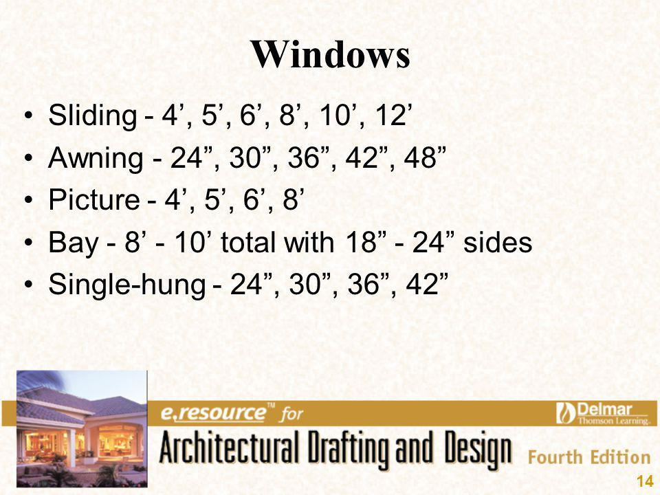 Windows Sliding - 4', 5', 6', 8', 10', 12'