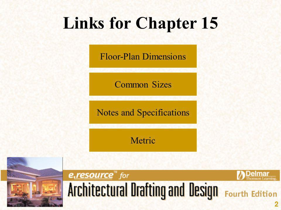 Links for Chapter 15 Floor-Plan Dimensions Common Sizes