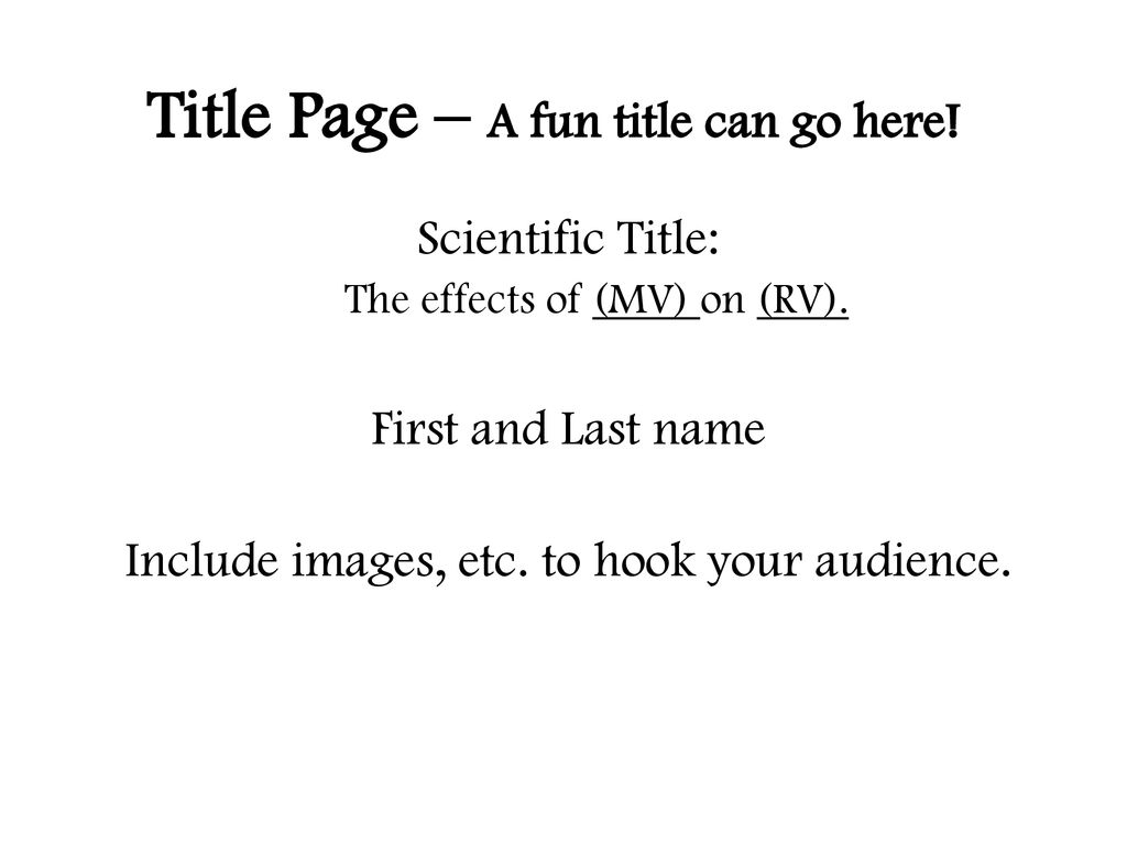 Title Page A Fun Title Can Go Here Ppt Download