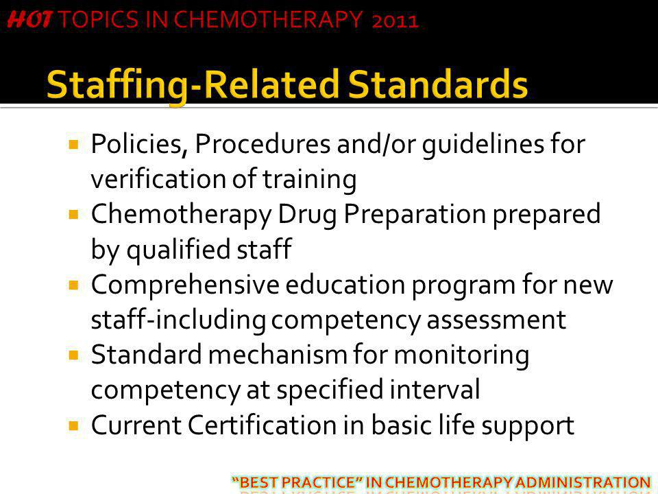 Staffing-Related Standards