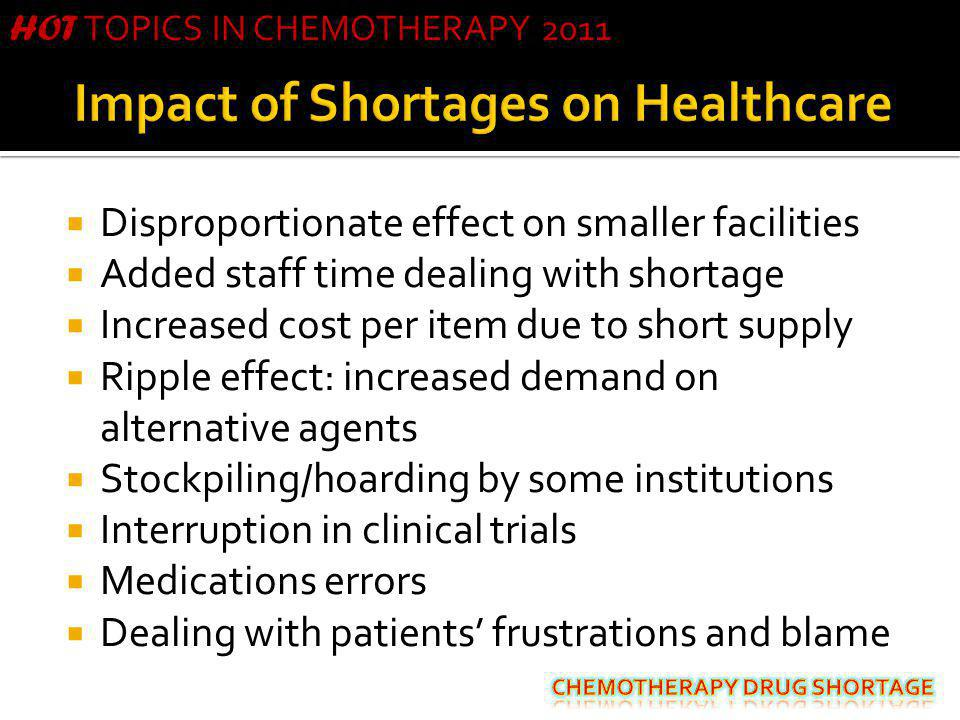 Impact of Shortages on Healthcare
