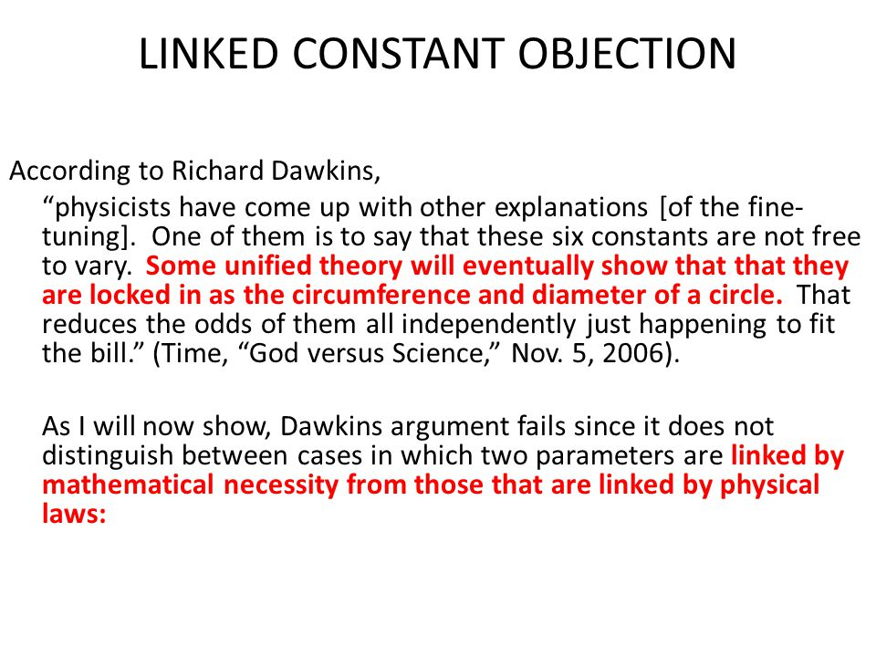 LINKED CONSTANT OBJECTION