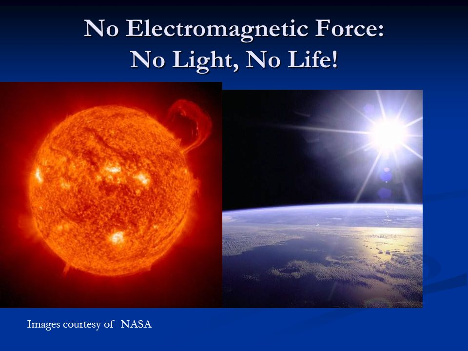 No Electromagnetic Force: No Light, No Life!