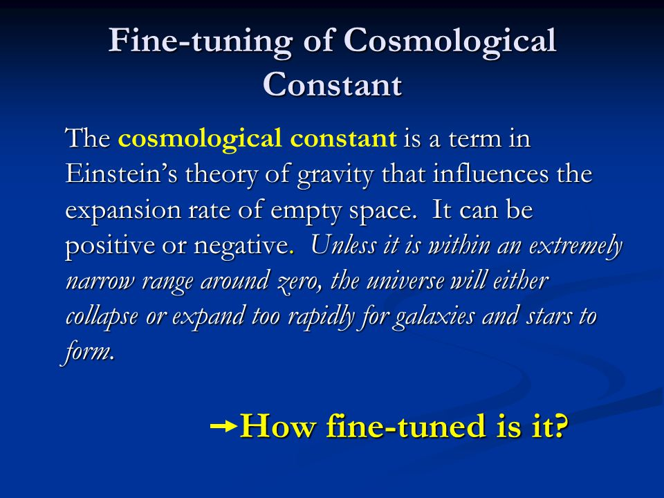 Fine-tuning of Cosmological Constant