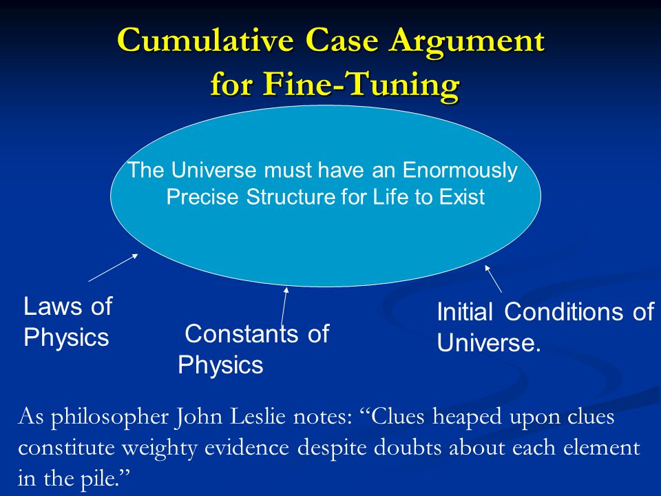 Cumulative Case Argument for Fine-Tuning