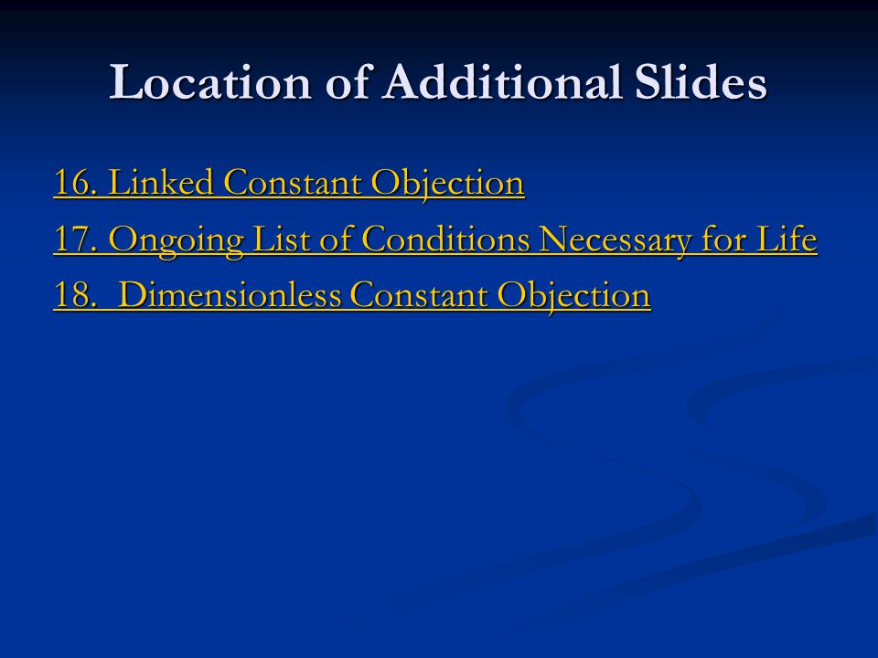 Location of Additional Slides